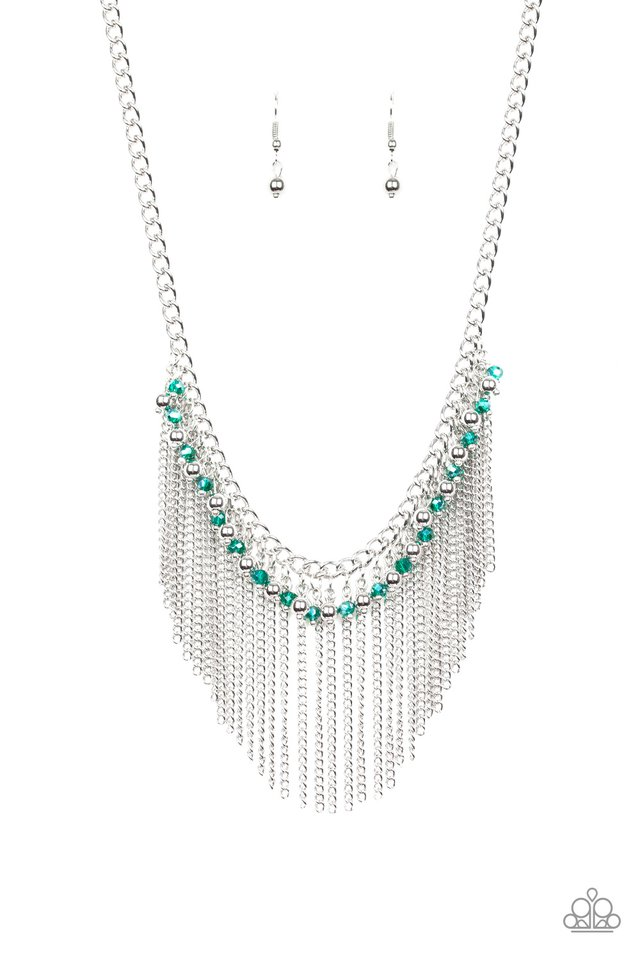 Divinely Diva - Green - Paparazzi Necklace Image