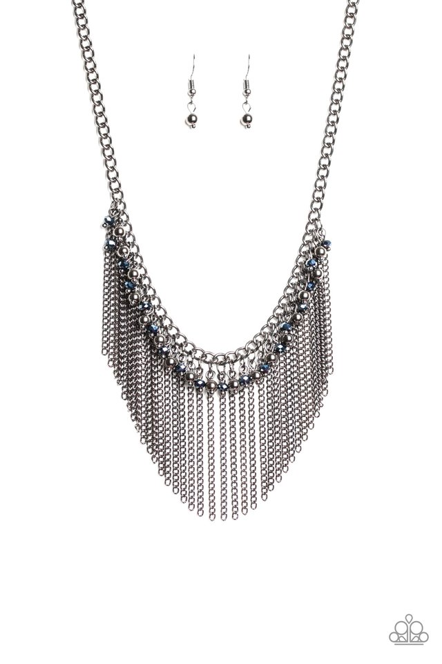 Divinely Diva - Blue - Paparazzi Necklace Image