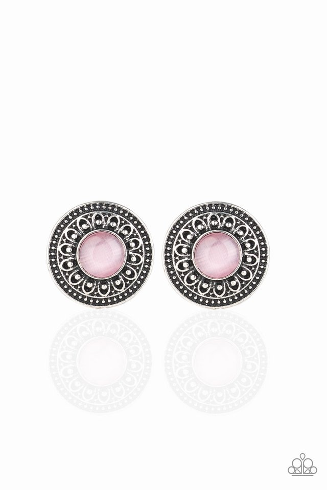 Fine Flora - Pink - Paparazzi Earring Image