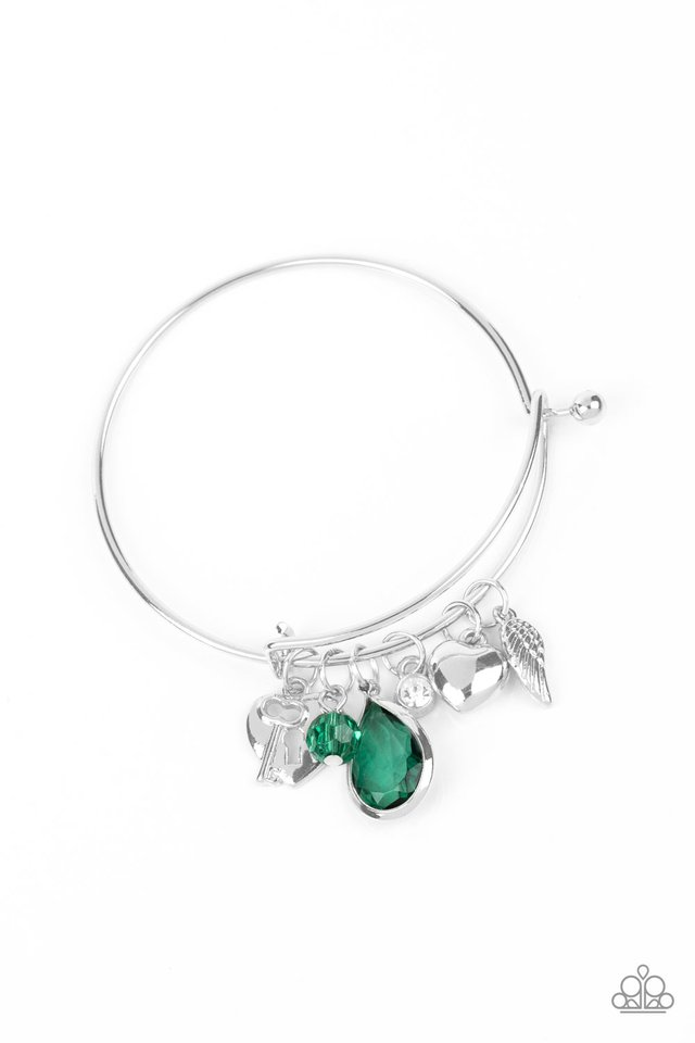 Heart of BOLD - Green - Paparazzi Bracelet Image