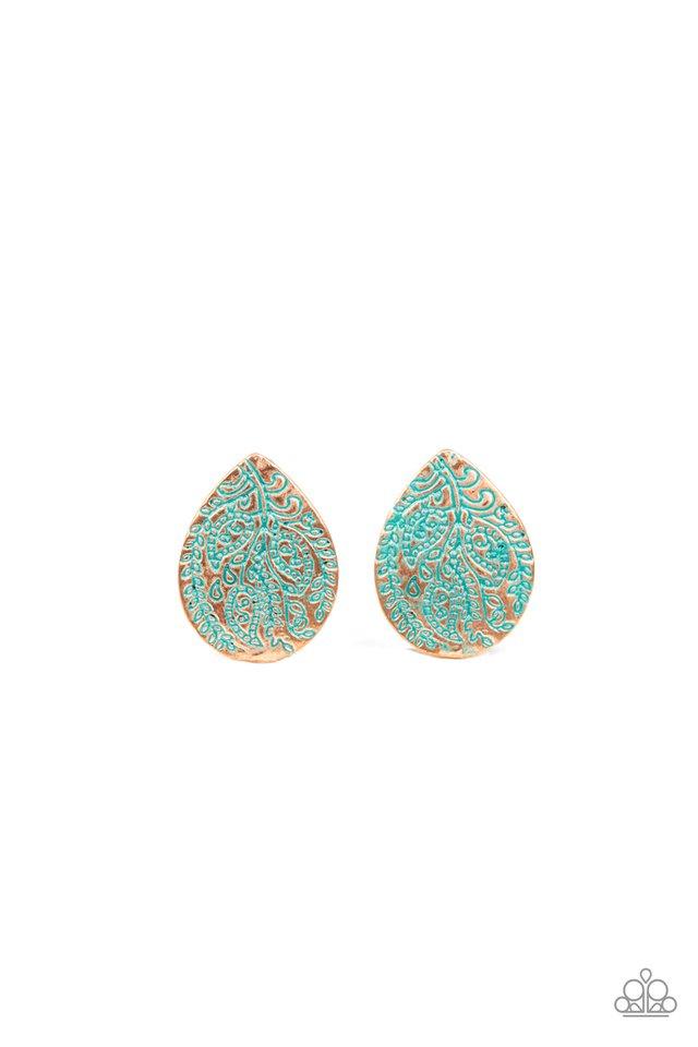 Seasonal Bliss - Copper - Paparazzi Earring Image