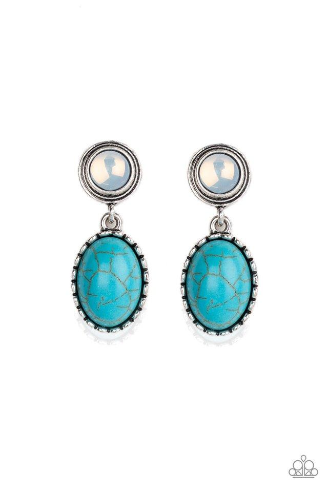 Western Oasis - Blue - Paparazzi Earring Image