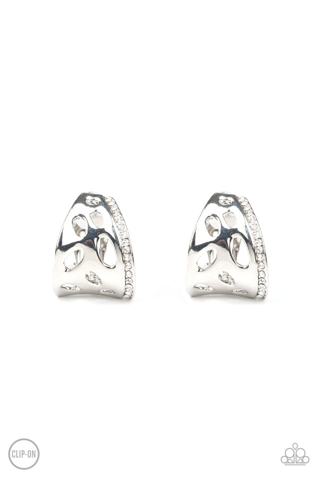 Blissed Out - White - Paparazzi Earring Image