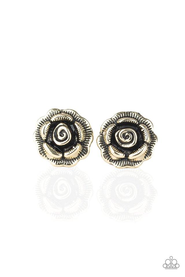 Best ROSEBUDS - Brass - Paparazzi Earring Image