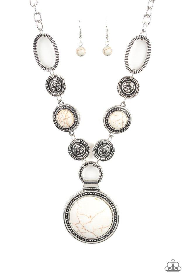 Sedona Drama - White - Paparazzi Necklace Image
