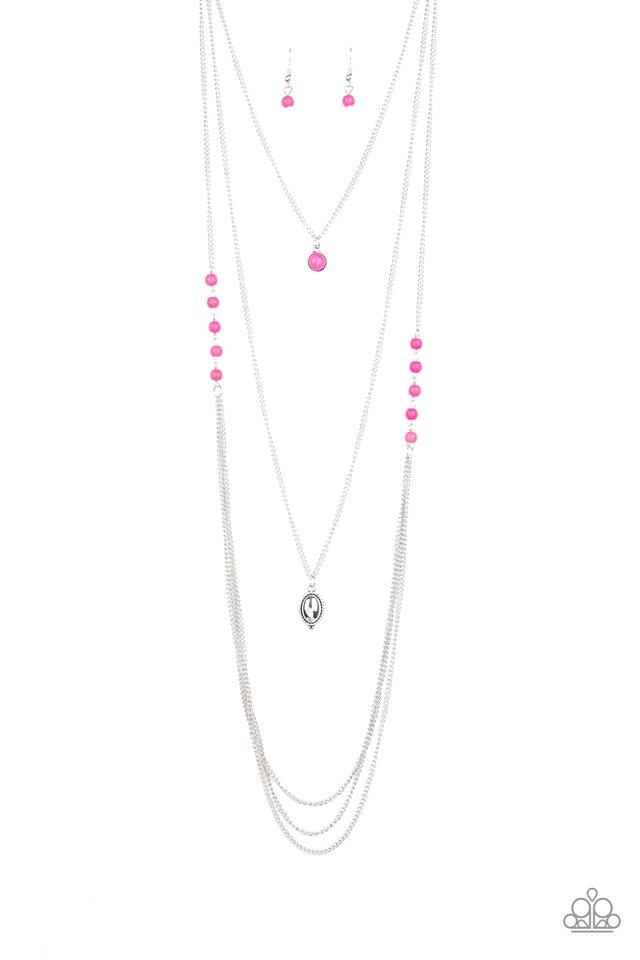 The Pony Express - Pink - Paparazzi Necklace Image