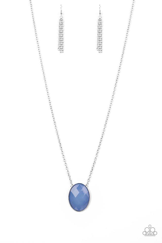Intensely Illuminated - Blue - Paparazzi Necklace Image
