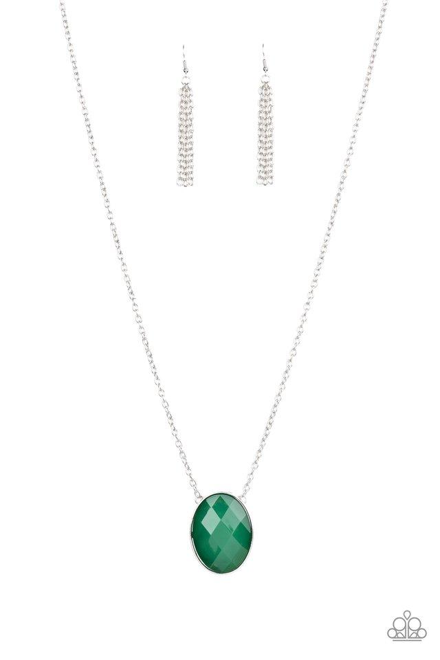 Intensely Illuminated - Green - Paparazzi Necklace Image