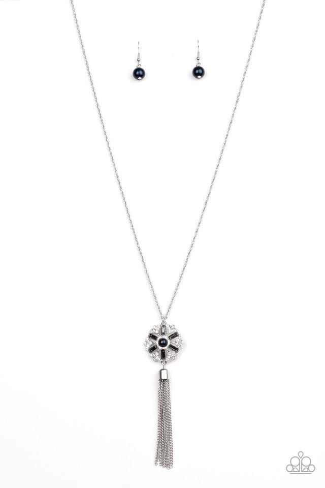 Fine Florals - Blue - Paparazzi Necklace Image