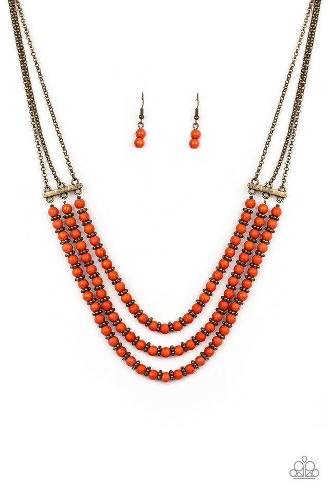 Terra Trails - Orange - Paparazzi Necklace Image