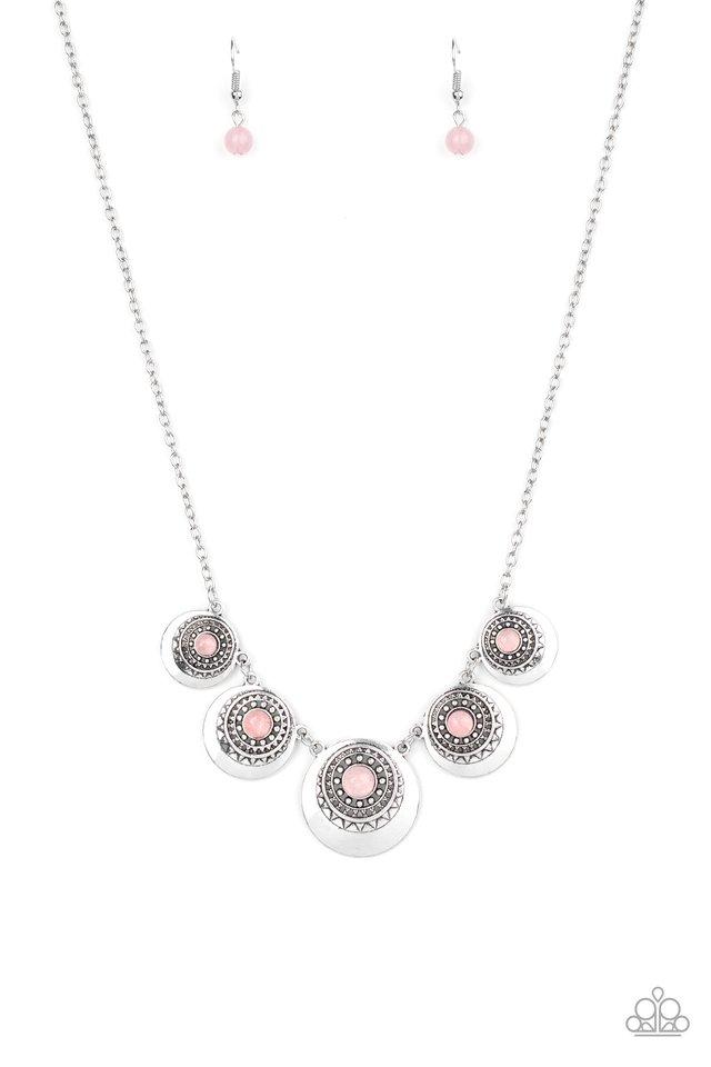 Solar Beam - Pink - Paparazzi Necklace Image