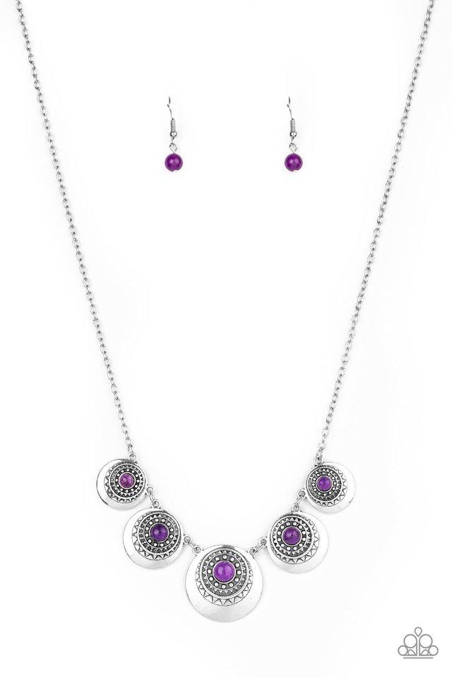 Solar Beam - Purple - Paparazzi Necklace Image