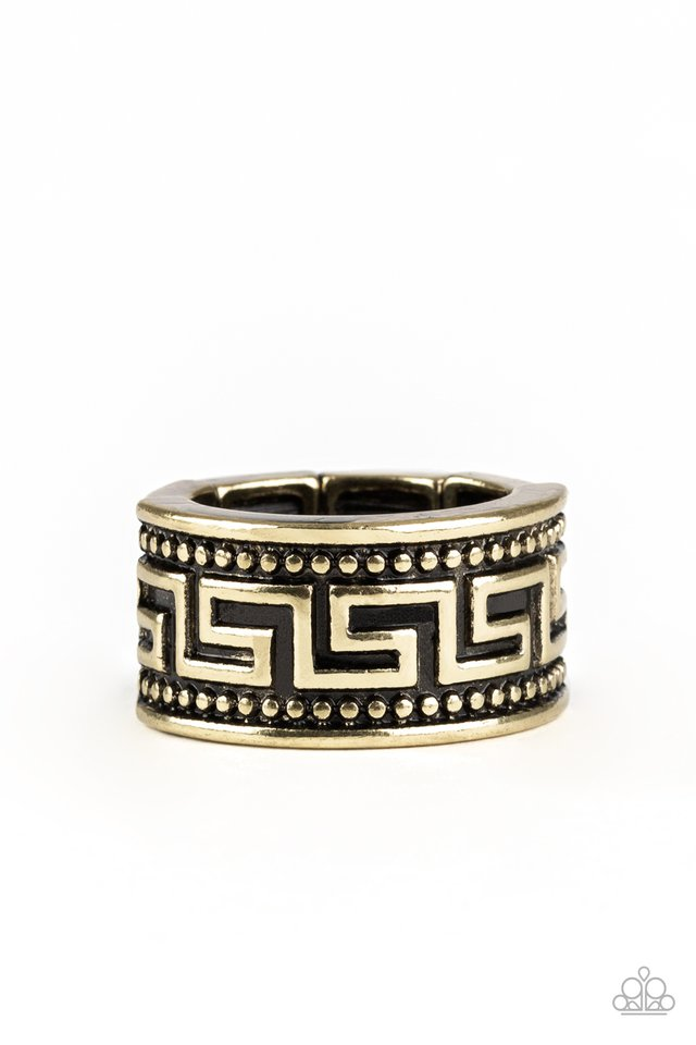Tycoon Tribe - Brass - Paparazzi Ring Image
