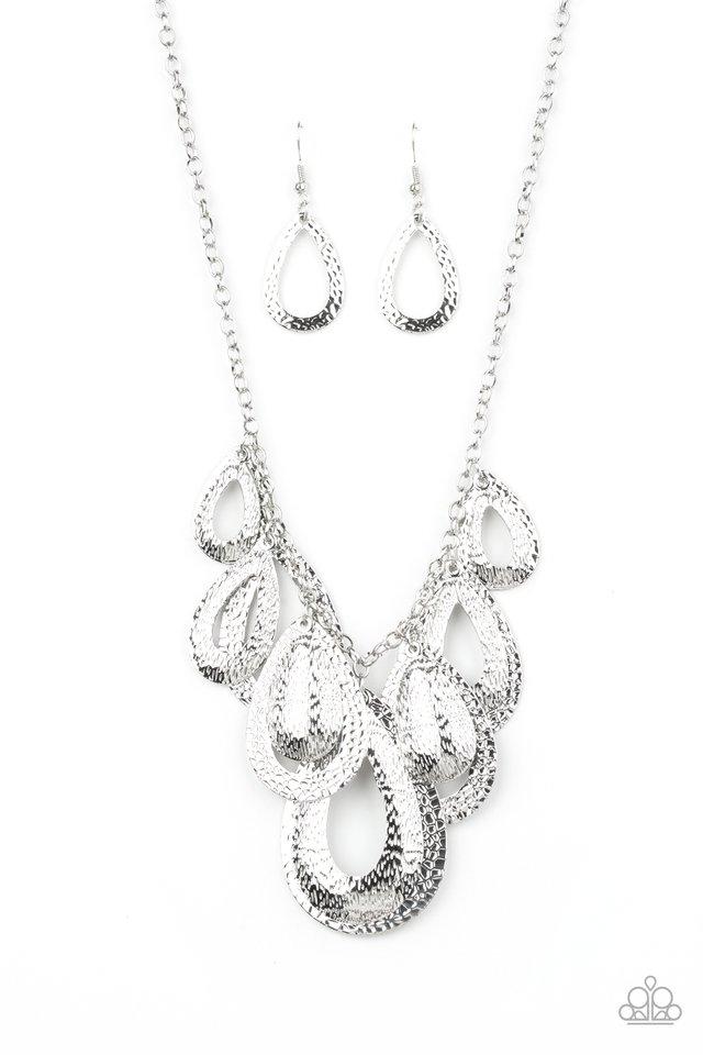 Teardrop Tempest - Silver - Paparazzi Necklace Image