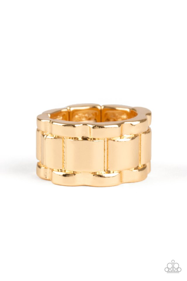 Modern Machinery - Gold - Paparazzi Ring Image