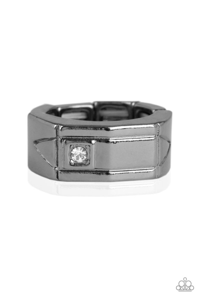 Atlas - Black - Paparazzi Ring Image