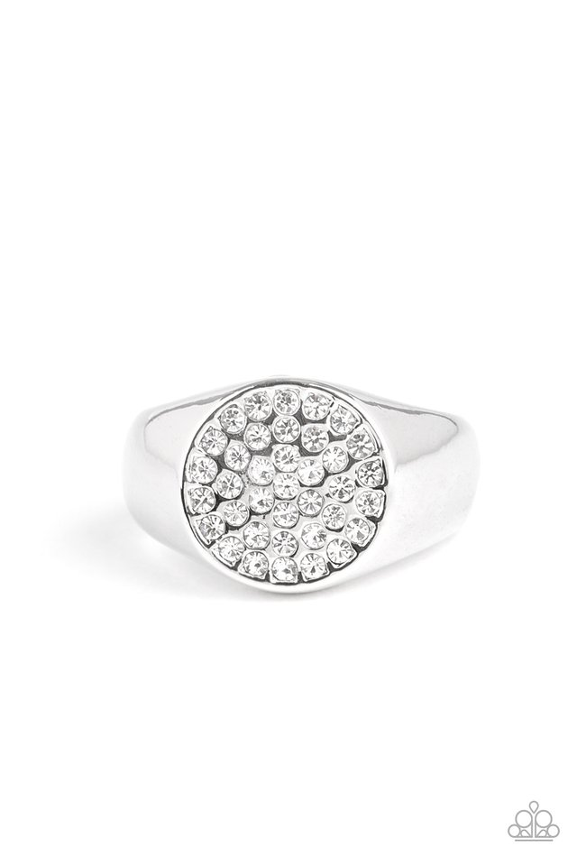 Conquest - White - Paparazzi Ring Image