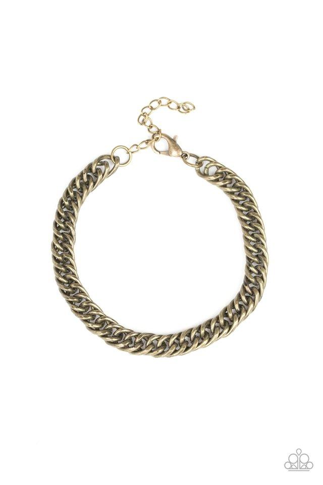 Next Man Up - Brass - Paparazzi Bracelet Image