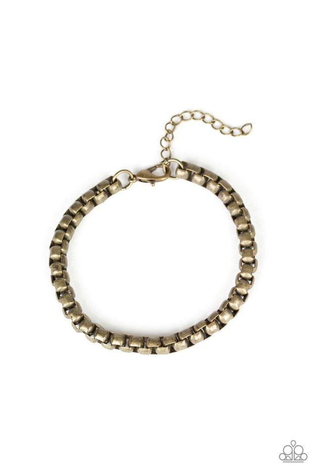 Alley Oop - Brass - Paparazzi Bracelet Image