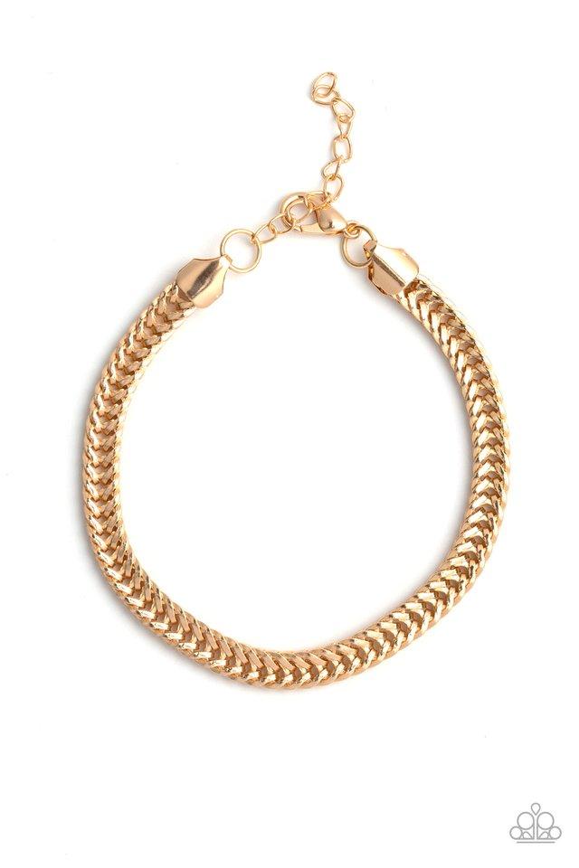 One-Two Knockout - Gold - Paparazzi Bracelet Image