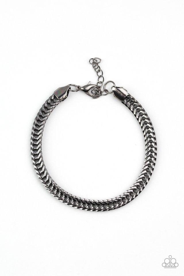 One-Two Knockout - Black - Paparazzi Bracelet Image