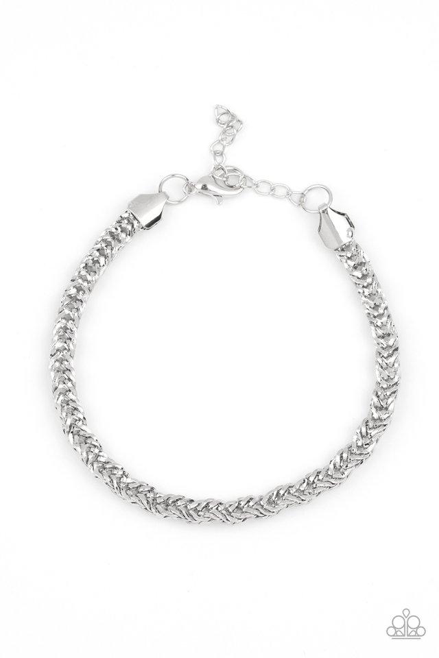 Fighting Chance - Silver - Paparazzi Bracelet Image