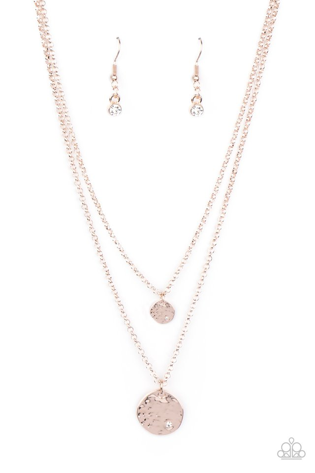 Modern Minimalist - Rose Gold - Paparazzi Necklace Image