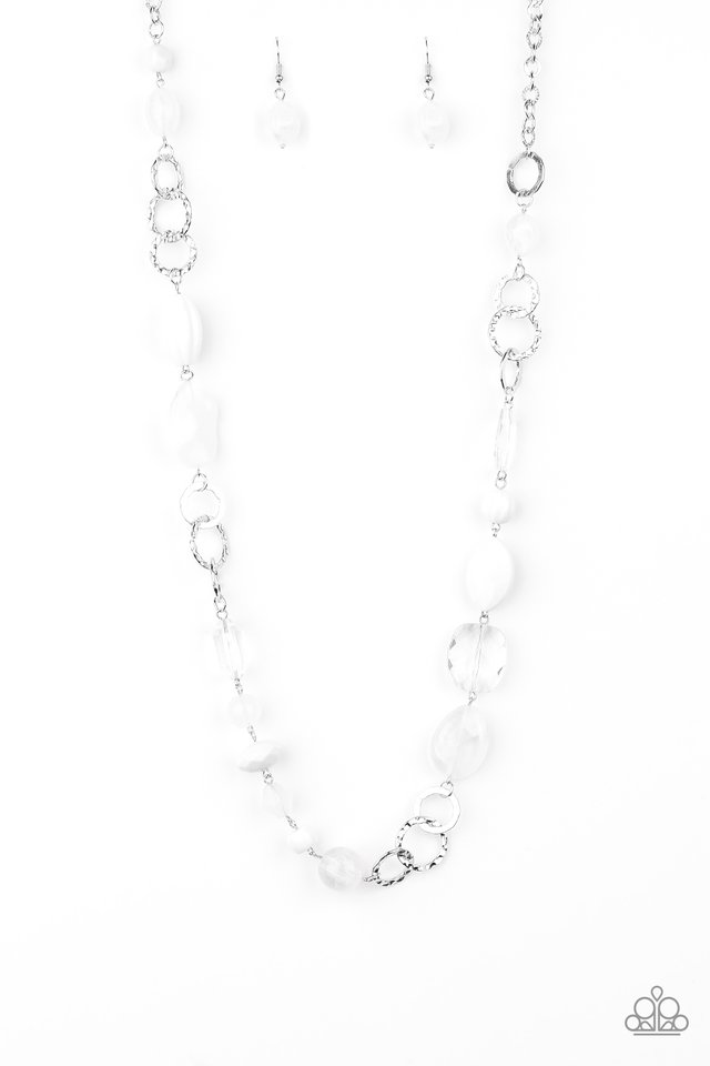 Prismatic Paradise - White - Paparazzi Necklace Image