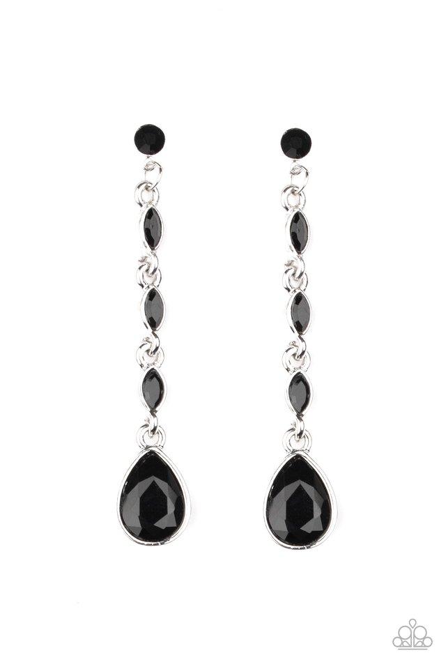 Must Love Diamonds - Black - Paparazzi Earring Image