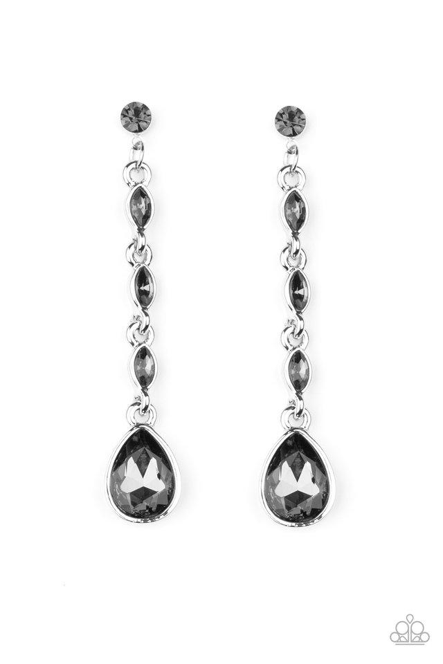 Must Love Diamonds - Silver - Paparazzi Earring Image