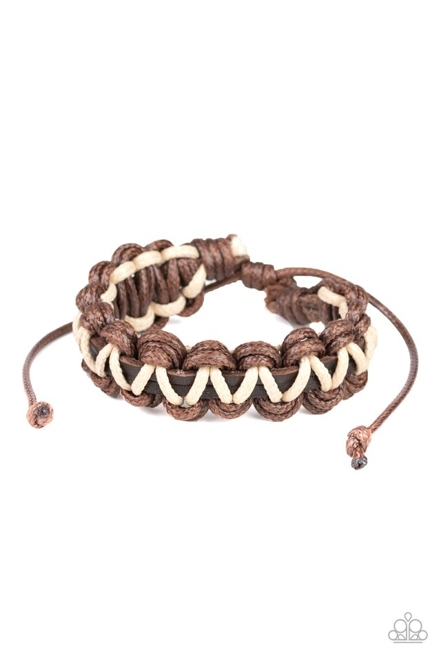 WEAVE It At That - Brown - Paparazzi Bracelet Image