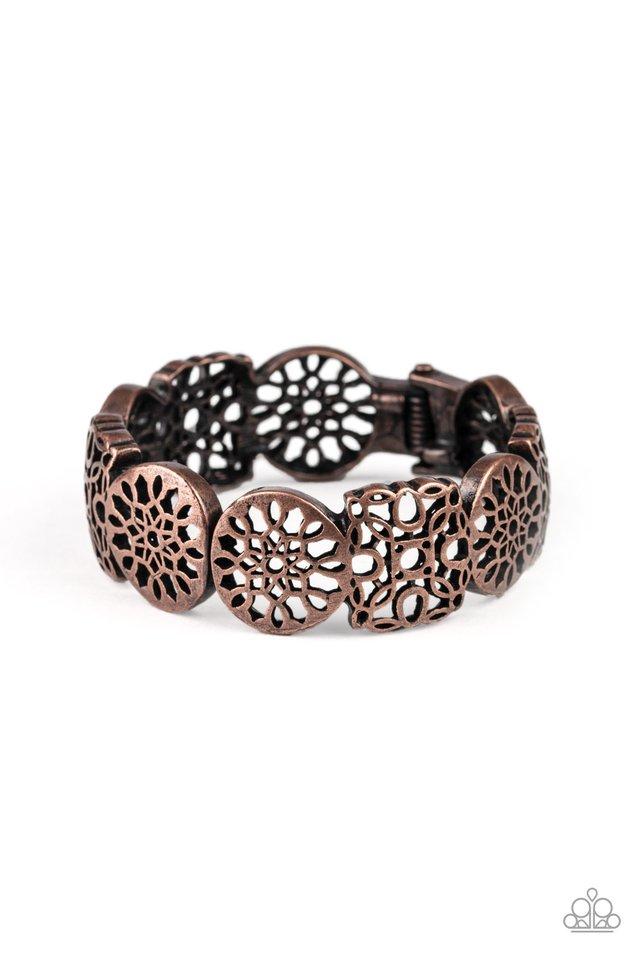 Mandala Mixer - Copper - Paparazzi Bracelet Image