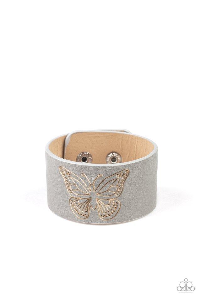 Flirty Flutter - Silver - Paparazzi Bracelet Image