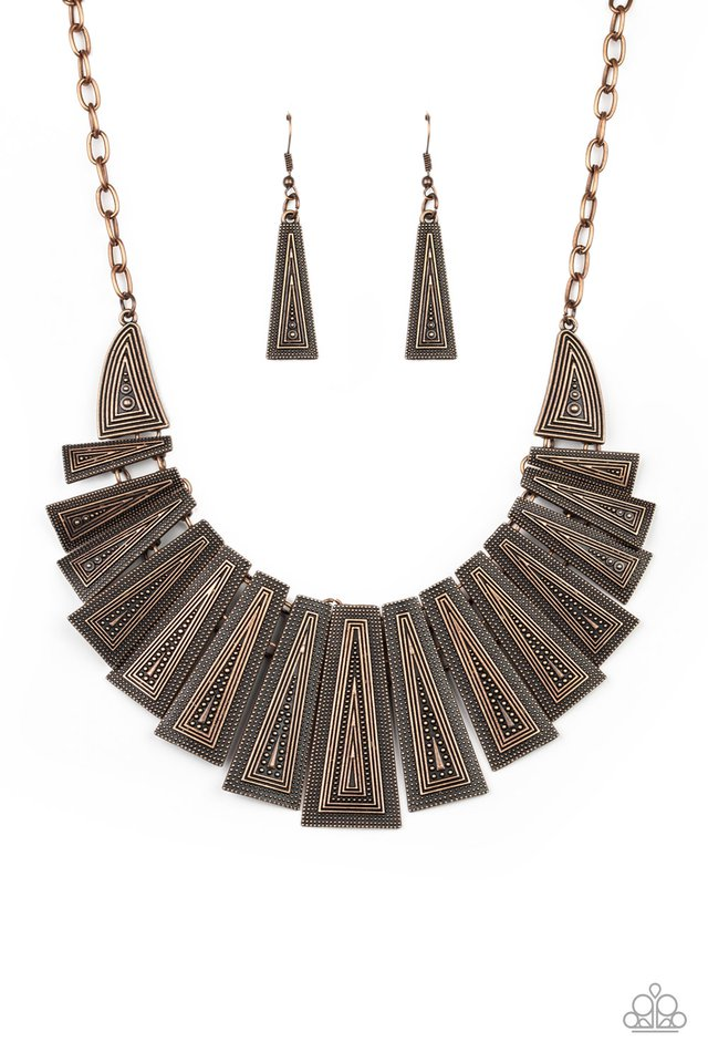 Metro Mane - Copper - Paparazzi Necklace Image