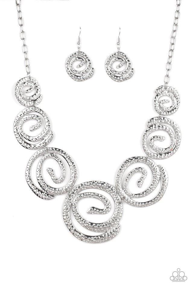 Statement Swirl - Silver - Paparazzi Necklace Image