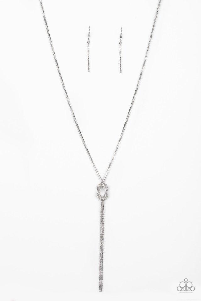 Knockout Knot - White - Paparazzi Necklace Image