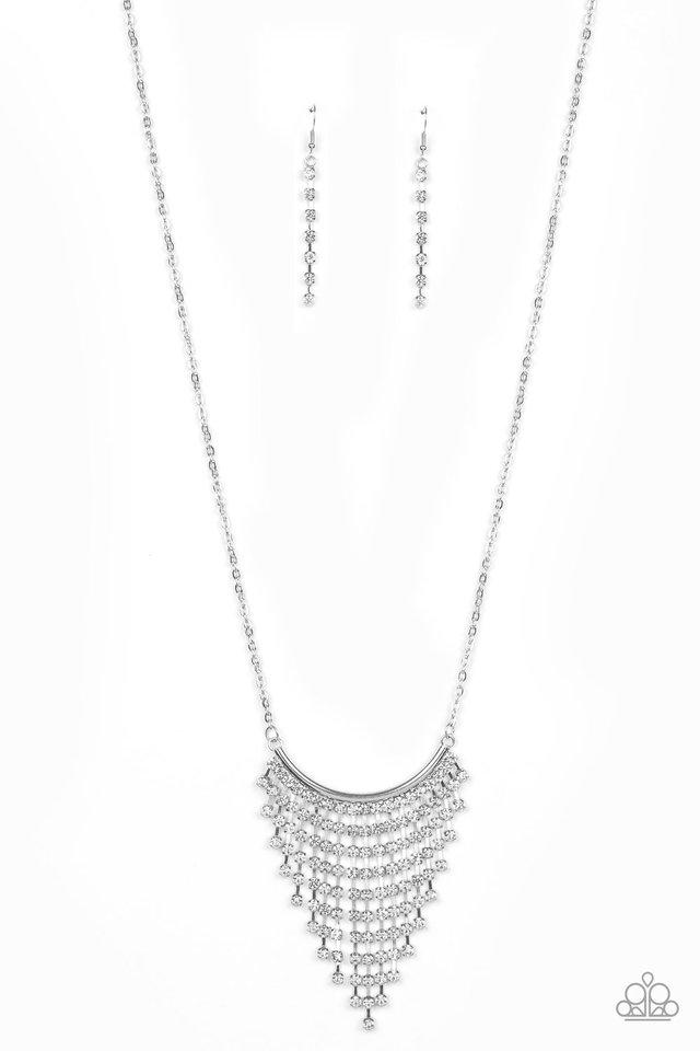 Glitter Bomb - White - Paparazzi Necklace Image