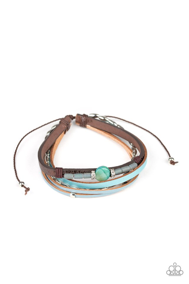 Geo Trek - Blue - Paparazzi Bracelet Image