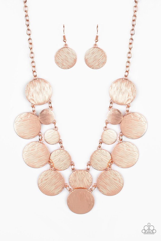 Stop and Reflect - Copper - Paparazzi Necklace Image