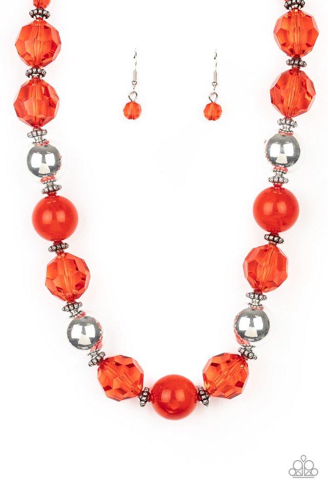 Very Voluminous - Red - Paparazzi Necklace Image