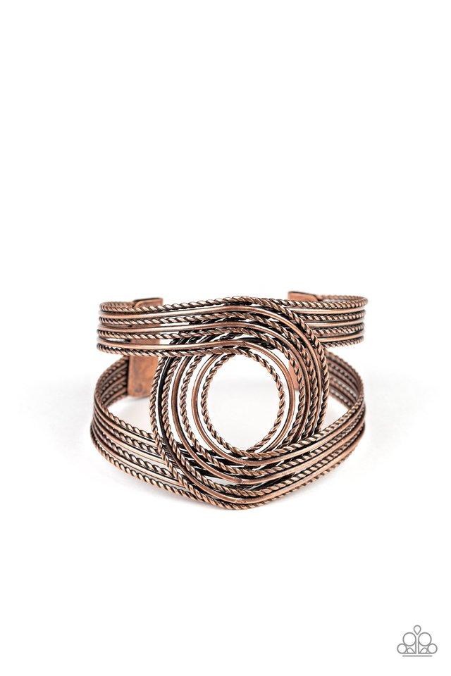 Rustic Coils - Copper - Paparazzi Bracelet Image