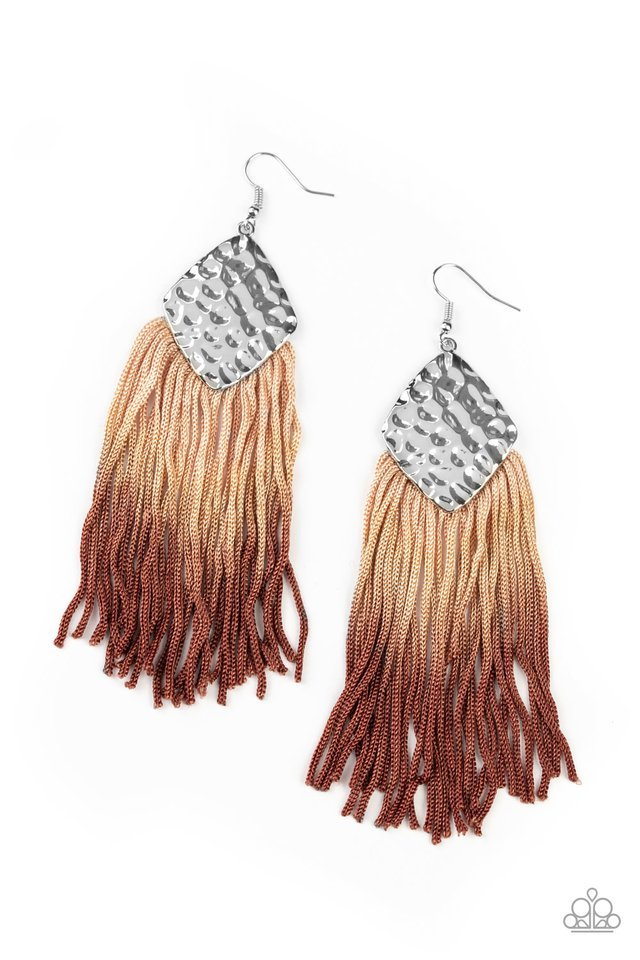 Dip In - Brown - Paparazzi Earring Image