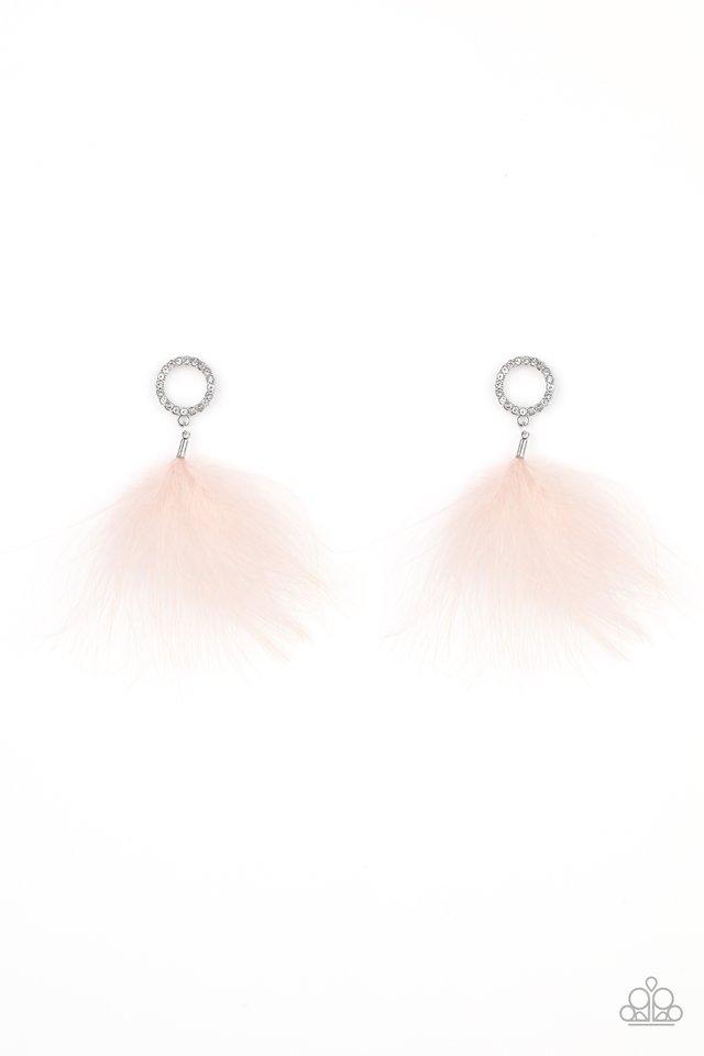 BOA Down - Pink - Paparazzi Earring Image