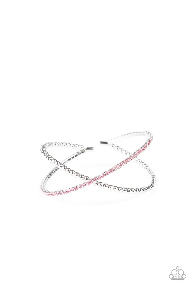 Chicly Crisscrossed - Pink - Paparazzi Bracelet Image