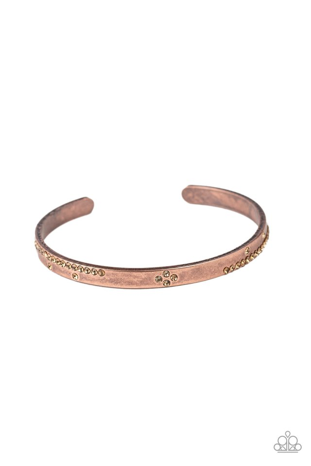 Dainty Dazzle - Copper - Paparazzi Bracelet Image