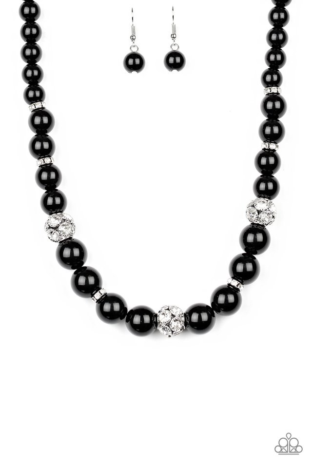 Rich Girl Refinement - Black - Paparazzi Necklace Image