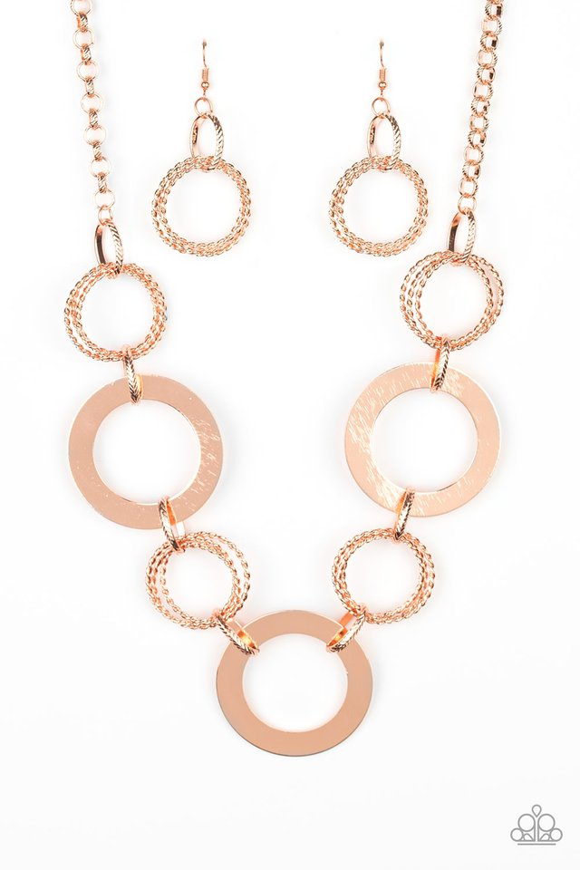 Ringed in Radiance - Copper - Paparazzi Necklace Image