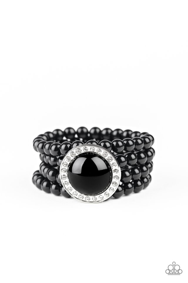 Top Tier Twinkle - Black - Paparazzi Bracelet Image