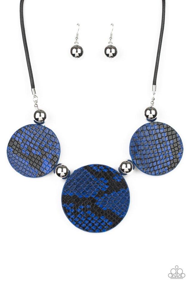 Viper Pit - Blue - Paparazzi Necklace Image