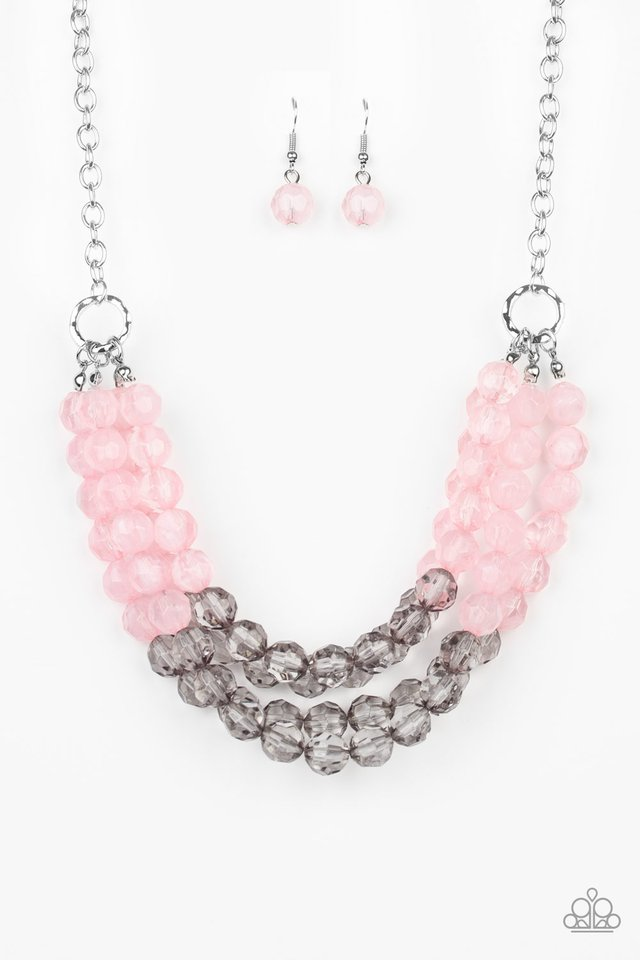 Summer Ice - Pink - Paparazzi Necklace Image